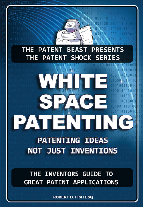 Cover of White Space Patenting Book, by Bob Fish