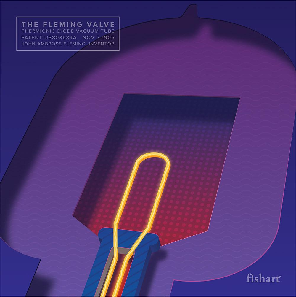 FishArt Fleming Valve Vacuum Tube